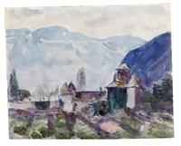 schloß maretsch, südtirol/baumgrenze (2 works) by hans josef weber-tyrol
