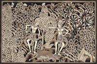 arjunawiwaha, arjuna fresh from meditation, challenges a hunter who is siwa in disguise by i dewa made sek
