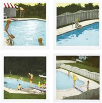 the swimming pool etchings (set of 4) by isca greenfield-sanders