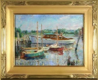 the harbor, essex, ct by frederick lester sexton