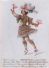 monsieur, le duc d'orléans, dressed as a coral fisherman by henri de gissey