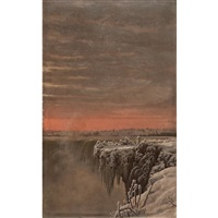 niagara falls in winter by mortimer l. smith