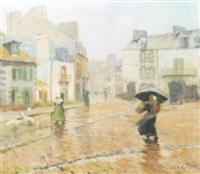 street in pont aven by corwin knapp linson