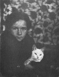 garçon au chat by gertrude kasebier