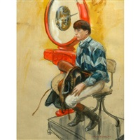 gentleman jockey on scales by henry koehler