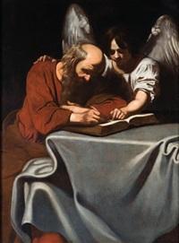 san matteo e l'angelo by nicolas regnier
