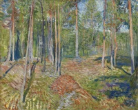 furuskog (pine forest) by edvard munch