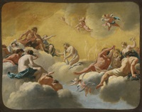 assembly of the gods by simon vouet