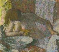 femme à sa toilette by edgar degas