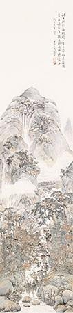 山溪咏秋图 by gu yun