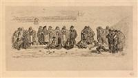les joueurs de boule, deux épreuves (set of 2) by gustave doré