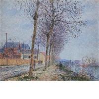 le quai du pothuis (l'oise a pontoise) by gustave loiseau
