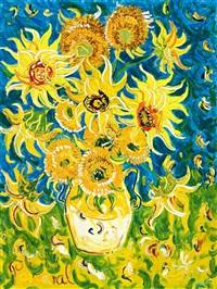 sunflowers for vincent by john de burgh perceval