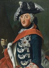 portrait du roi frédéric ii de prusse by leopold faber