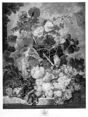 a fruit piece after jan van huysum by richard earlom
