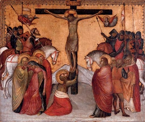 the crucifixion by jacobello alberegno