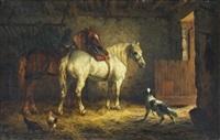 pferde im stall by willem jacobus boogaard