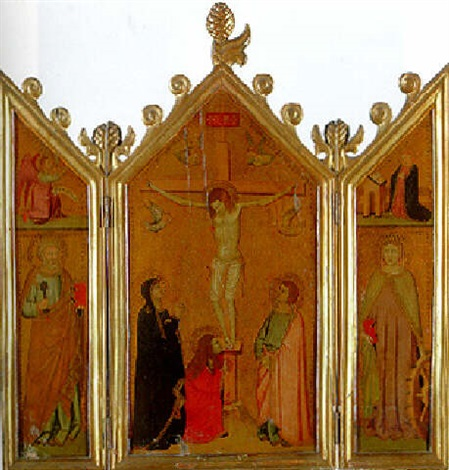 the crucifixion with the magdalen at the foot of the cross by giotto ambrogio bondone