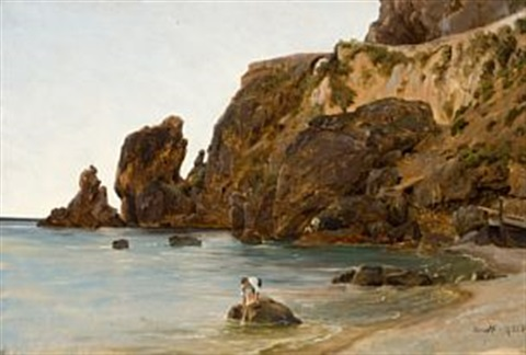 gutter på stranden amalfi by thomas fearnley