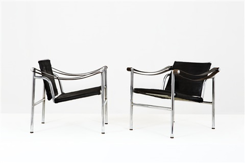 Due poltrone mod. B301 by Le Corbusier, Charlotte Perriand and ...
