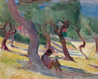 lecture sous une arbre by arminia babaian