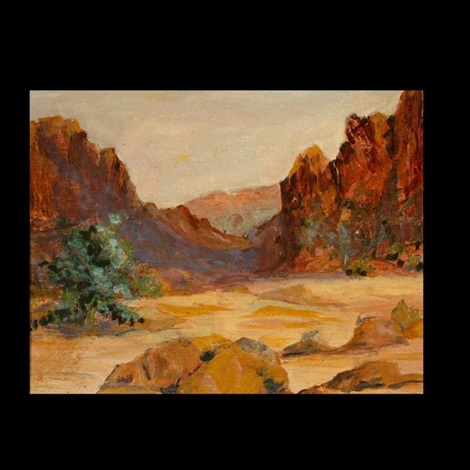 desert landscape by r brownell mcgrew