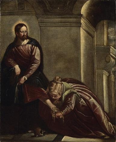 marie madeleine lavant les pieds du christ by benedetto caliari