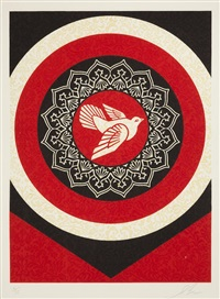 untitled (dove target red), from the target series by shepard fairey