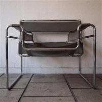 2 fauteuils, modèle vassily by marcel breuer
