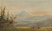 indian encampment by henry arthur elkins