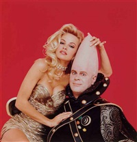 pamela anderson and dan ackroyd, february (2 works) by stephen wayda