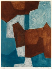 composition bleue et brune by serge poliakoff