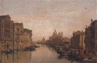 the grand canal, venice, santa maria della salute, beyond by victor vervloet