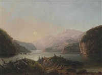lake in the wind river country by alfred jacob miller