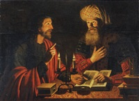 christ instructing nicodemus by cryn hendricksz volmaryn