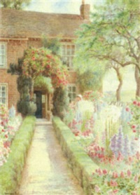 woman in a country garden by harrison miller