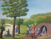 scène de cave by andré bauchant