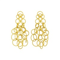 a pair of gold 'hawaii' ear pendants by buccellati