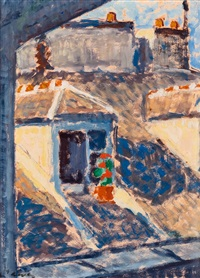 view over the roofs by alvar cawen