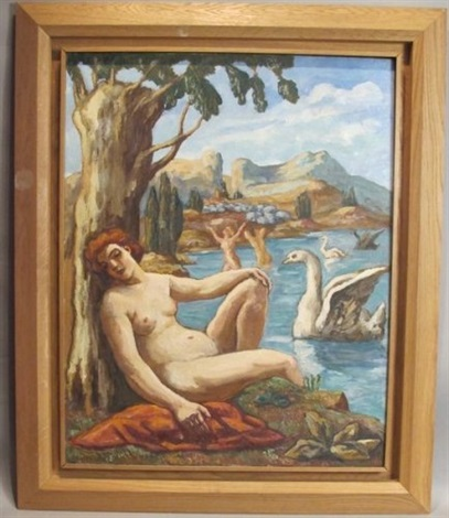 léda et le cygne by pierre paul girieud