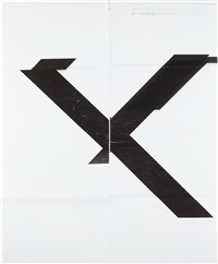 untitled (x poster) by wade guyton