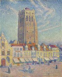 la tour de furnes by théo van rysselberghe
