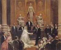 la cérémonie du mariage by pierre paul léon glaize