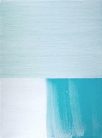 untitled - white blue by katharina grosse