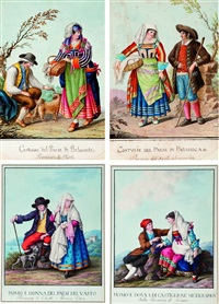 costumi del paese di belmonte (+ 3 others; 4 works) by alessandro d' anna