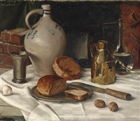 still life with laid table by willy fleur