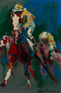 into the stretch by leroy neiman