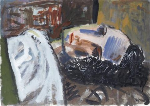 sleeping figure by peter howson