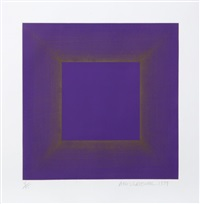 midnight suite (purple with silver) by richard anuszkiewicz