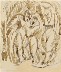 three figures (after picasso) by duncan grant